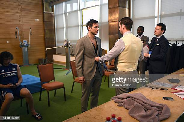 Chelsea's Frank Lampard during a Hackett suit fitting at the Cobham Training Ground on 11th April 2014 in Cobham England THIS CONTENT IS PART OF A...