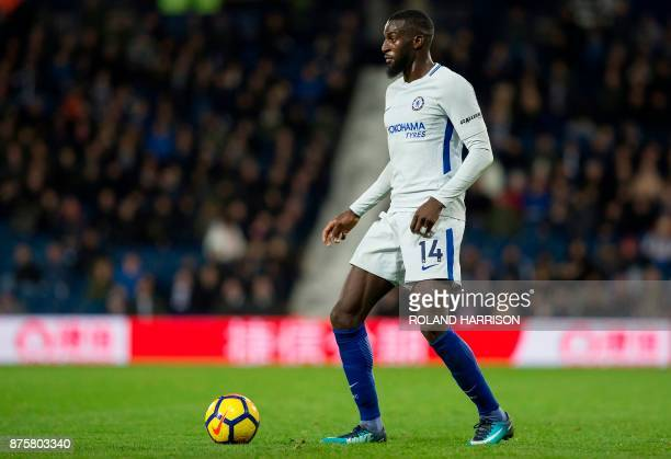 Chelsea's French midfielder Tiemoue Bakayoko controls the ball during the English Premier League football match between West Bromwich Albion and...