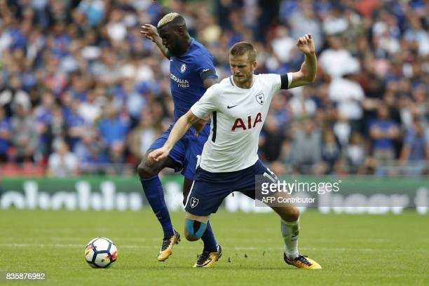 Chelsea's French midfielder Tiemoue Bakayoko vies with Tottenham Hotspur's English defender Eric Dier during the English Premier League football...