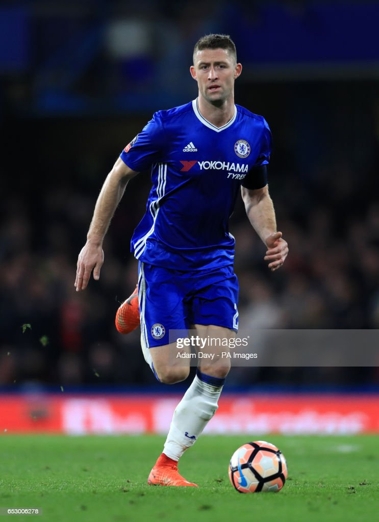 Chelsea's Gary Cahill during the Emirates FA Cup, Quarter Final match at Stamford Bridge, London.