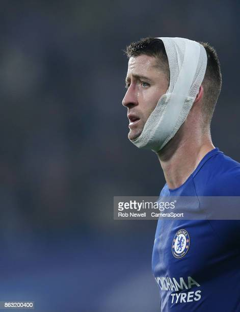 Chelsea's Gary Cahill during the UEFA Champions League group C match between Chelsea FC and AS Roma at Stamford Bridge on October 18 2017 in London...