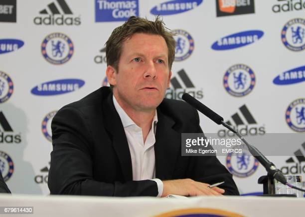 Chelsea's head of communications Steve Atkins at todays press conference
