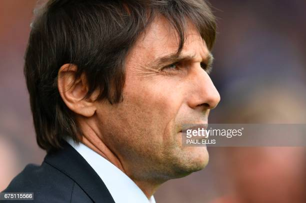 Chelsea's Italian head coach Antonio Conte waits prior ro the English Premier League football match between Middlesbrough and Manchester City at...