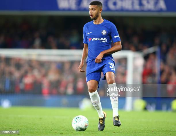 Chelsea's Jake ClarkeSalter during Carabao Cup 3rd Round match between Chelsea and Nottingham Forest at Stamford Bridge Stadium London England on 20...