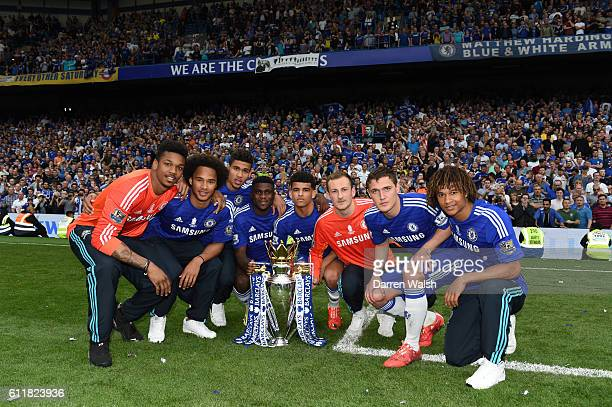 Chelsea's Jamal Blackman Isaiah Brown Dominic Solanke Jeremie Boga Ruben LoftusCheek Mitchell Beeney Andreas Christensen and Nathan Ake celebrate...