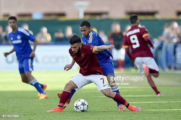 Chelsea's Jay Dasilva and Roma's Daniele Verde
