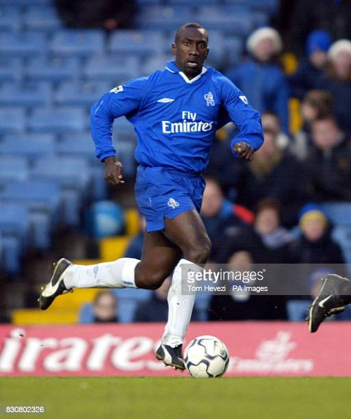 Chelsea's Jimmy Floyd Hasselbaink in action during the FA Barclaycard Premiershp game between Chelsea v Bolton Wanderers at Stamford Bridge West...