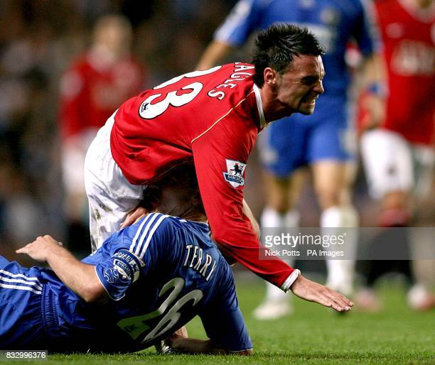 Chelsea's John Terry clashes with Manchester United's Chris Eagles