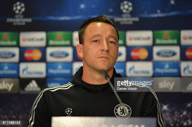 Chelsea's John Terry during a UEFA Champions League Press Conference at Dusseldorf Airport on 21st October 2013 in Dusseldorf Germany