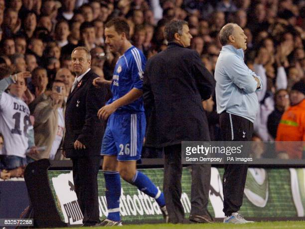 Chelsea's John Terry leaves the pitch after being sent off