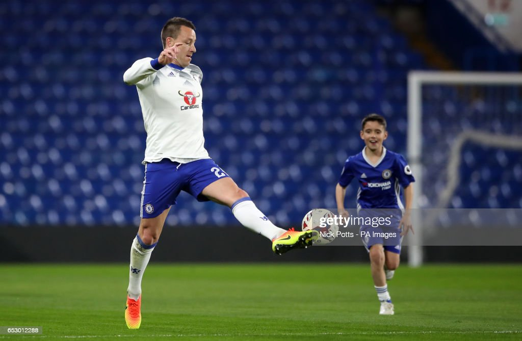 Chelsea's John Terry on the pitch after during the Emirates FA Cup, Quarter Final match at Stamford Bridge, London.