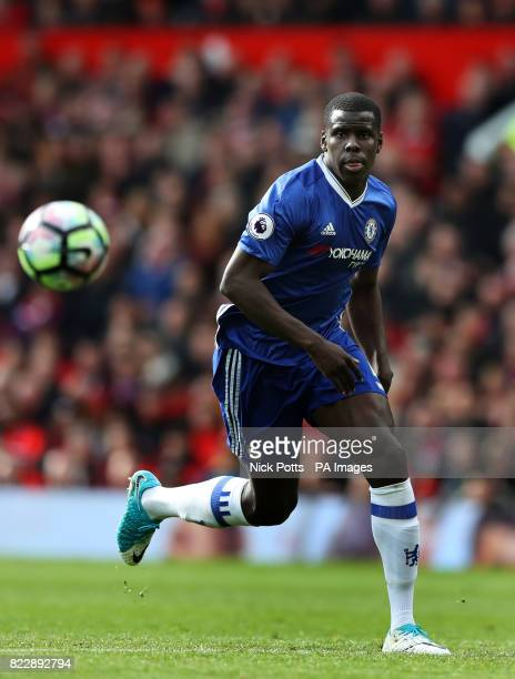 Chelsea's Kurt Zouma during the Premier League match at Old Trafford Manchester