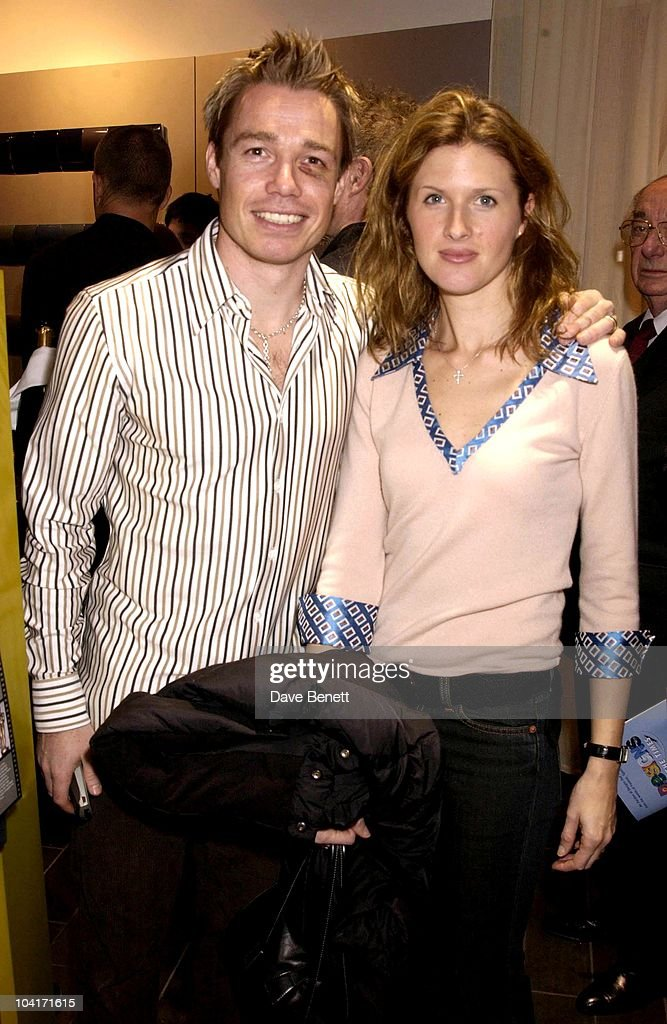 Chelsea's Leftback Graham Lesaux And His Wife Shows Off The Black Eye He Got From Teddy Sheringham, Designs Of The Times Auction Launch Party, At The Audi Forum, On Behalf Of The Norwood And Demelza House