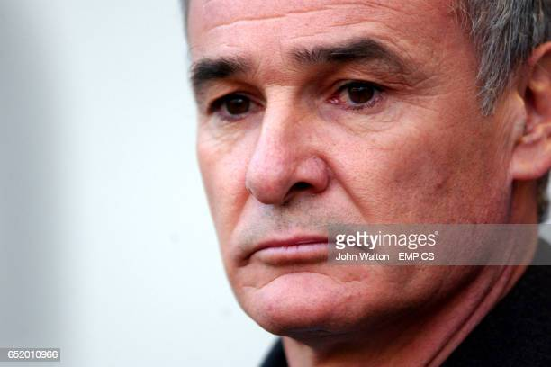 Chelsea's manager Claudio Ranieri before the start of the game against Bolton