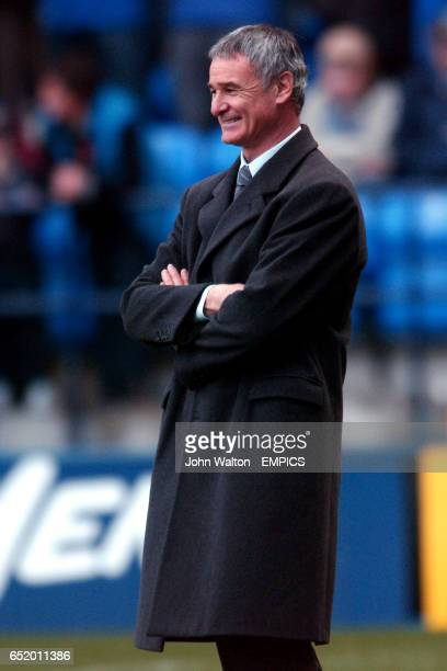 Chelsea's manager Claudio Ranieri has a smile before the start of the game