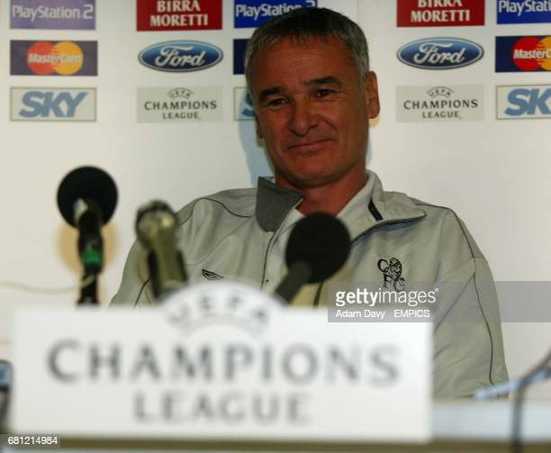 Chelsea's Manager Claudio Ranieri is all smiles ahead of the game with Lazio