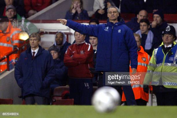 Chelsea's manager Claudio Ranieri watches his team from the sideline