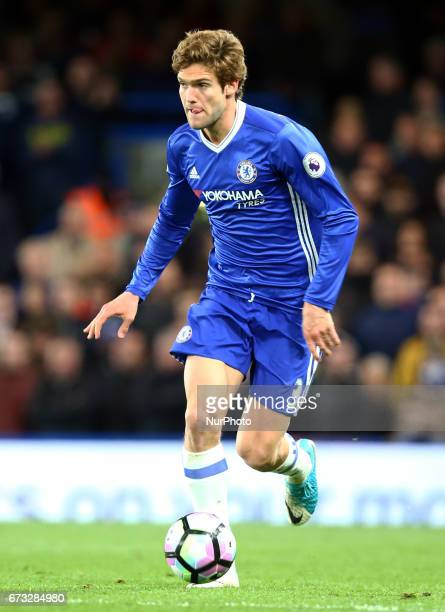 Chelsea's Marcos Alonso during the Premier League match between Chelsea and Southampton at Stamford Bridge London England on 25 April 2017