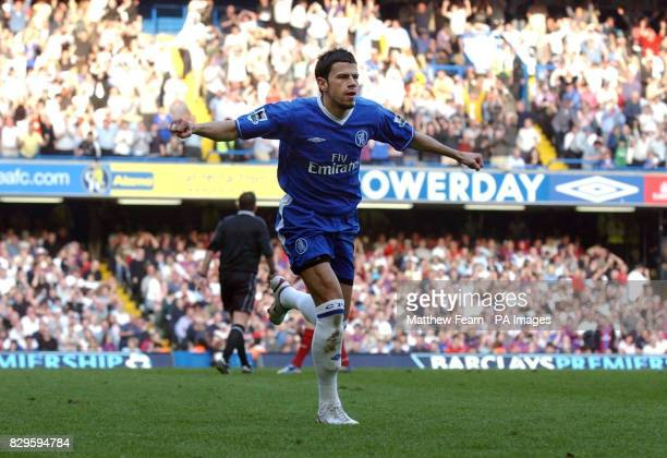Chelsea's Mateja Kezman celebrates after scoring against Crystal Palace