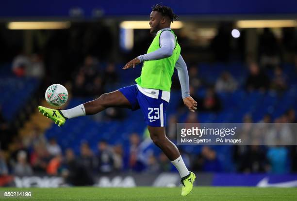Chelsea's Michy Batshuayi before the Carabao Cup Third Round match at Stamford Bridge London