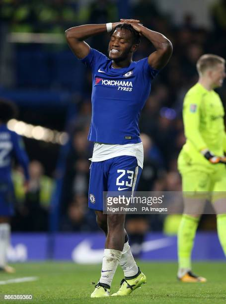 Chelsea's Michy Batshuayi during the Carabao Cup Fourth Round match at Stamford Bridge London