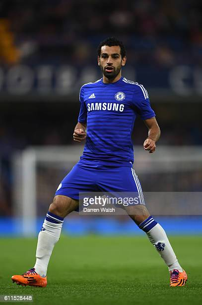 Chelsea's Mohamed Salah during a pre season friendly match between Chelsea and Real Sociedad at Stamford Bridge on 12th August 2014 in London England
