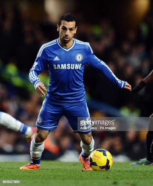 Chelsea's Mohamed Salah during the Barclays Premier League match at Stamford Bridge London