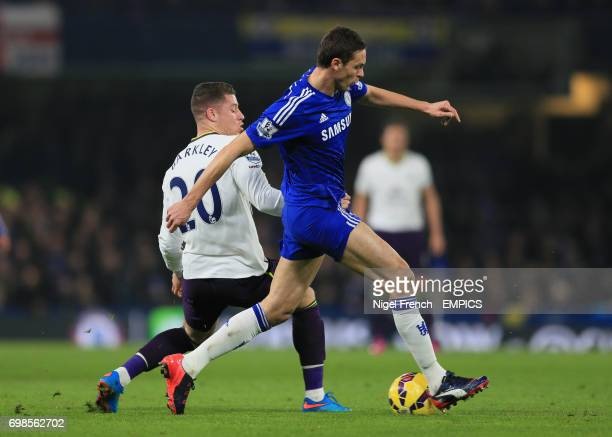 Chelsea's Nemanja Matic and Everton's Ross Barkley battle for the ball