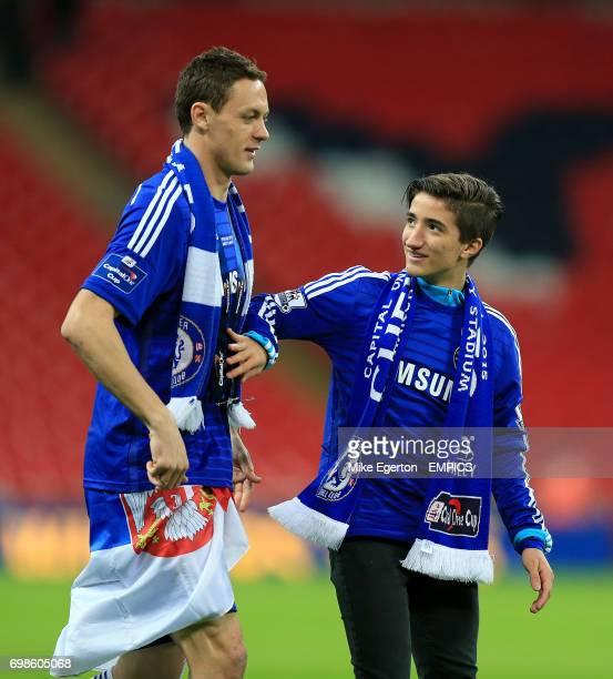 Chelsea's Nemanja Matic with Jose Mario Mourinho Jr