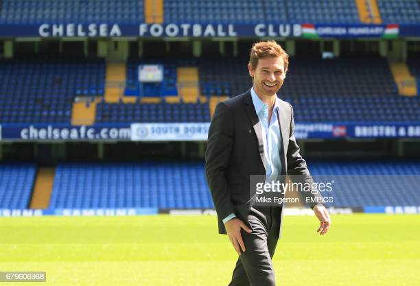 Chelsea's new head coach Andre VillasBoas at todays press conference