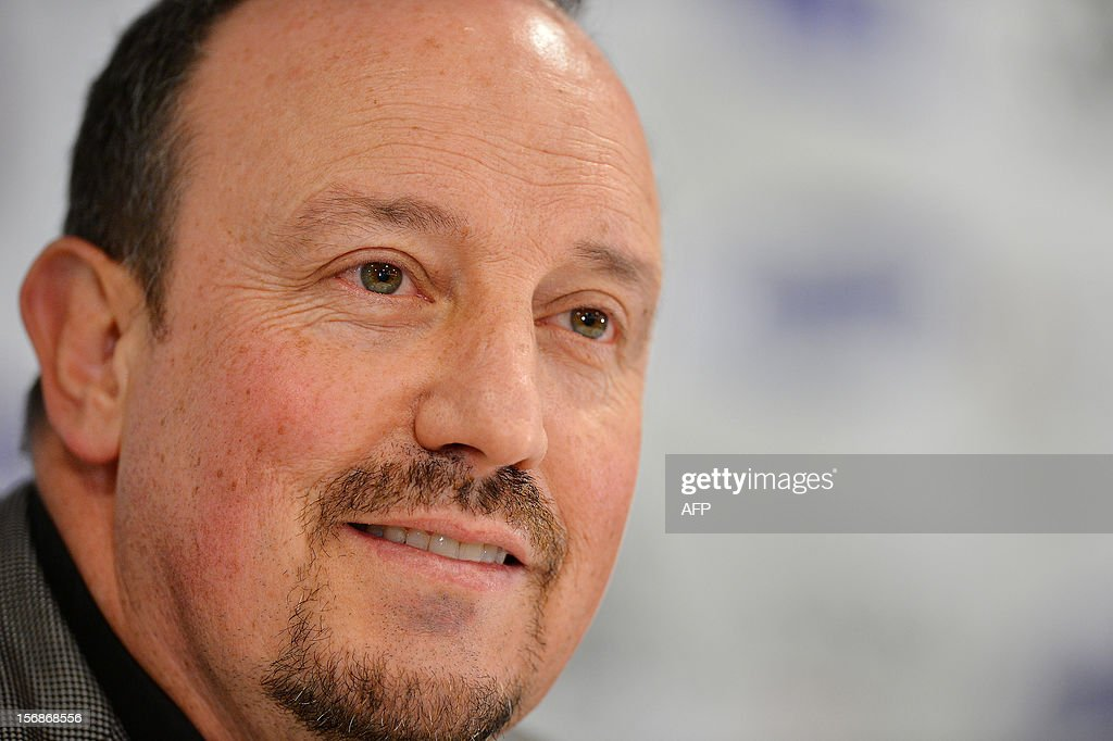 Chelsea's new interim manager Spain's Rafael Benitez speaks during a press conference at Stamford Bridge in London on November 22, 2012. Benitez tried to overcome hostility from Chelsea fans angry with his appointment as interim manager by insisting both he and they wanted the same things. The Spaniard started life with the European champions on November 22 after the London club sacked its Italian manager Roberto di Matteo. AFP PHOTO / BEN STANSALL