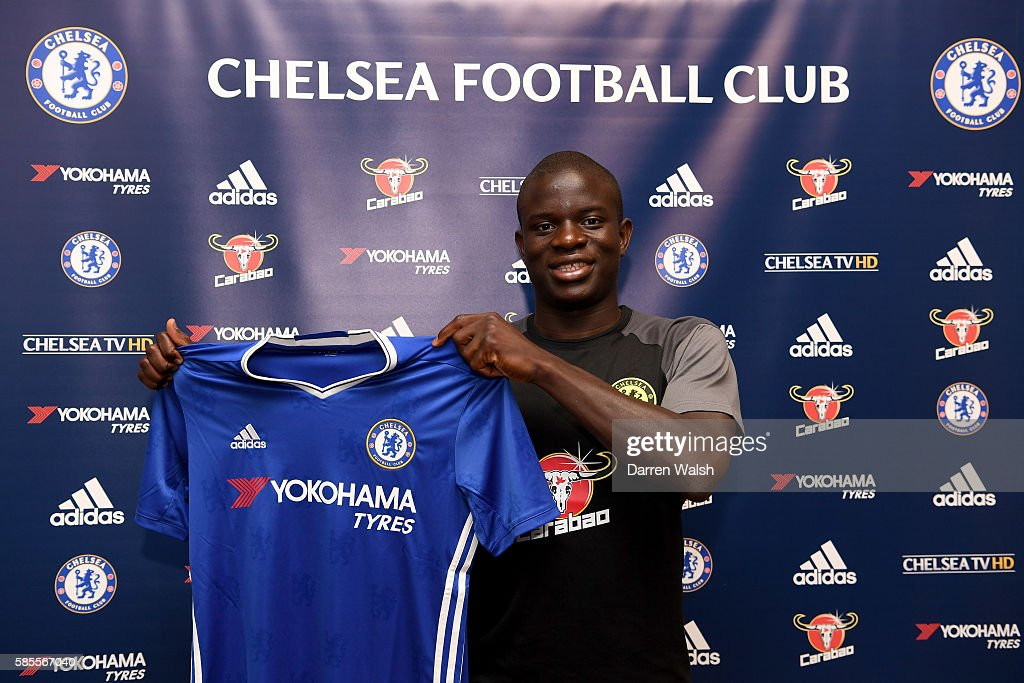 Chelsea's new signing N'Golo Kante poses for a photo during the club's pre-season US tour at Loews Hotel on August 3, 2016 in Minneapolis, Minnesota.