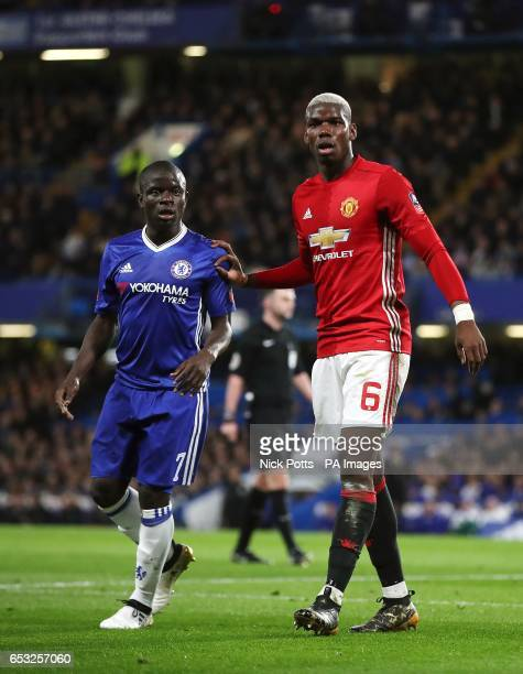 Chelsea's Ngolo Kante and Manchester United's Paul Pogba