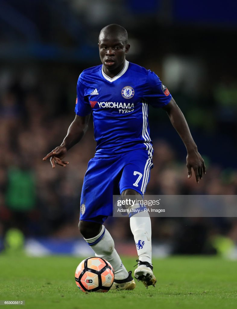 Chelsea's N'Golo Kante during the Emirates FA Cup, Quarter Final match at Stamford Bridge, London.