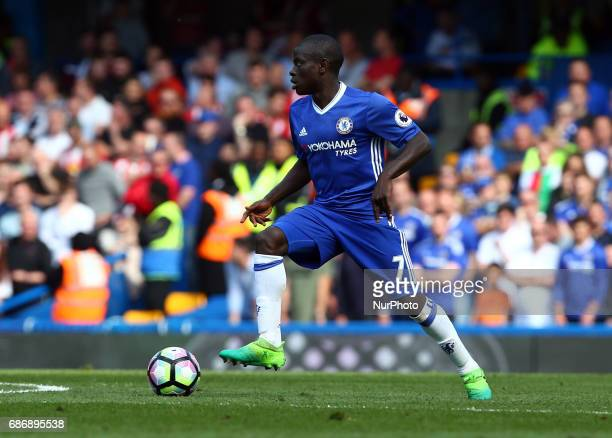 Chelsea's N'Golo Kante during the Premier League match between Chelsea and Sunderland at Stamford Bridge London England on 21 May 2017