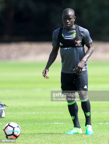 Chelsea's N'Golo Kante during the training session at Cobham Training Ground Stoke d'Abernon