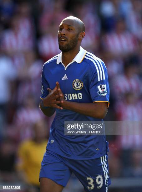 Chelsea's Nicolas Anelka celebrates scoring his sides first goal of the game