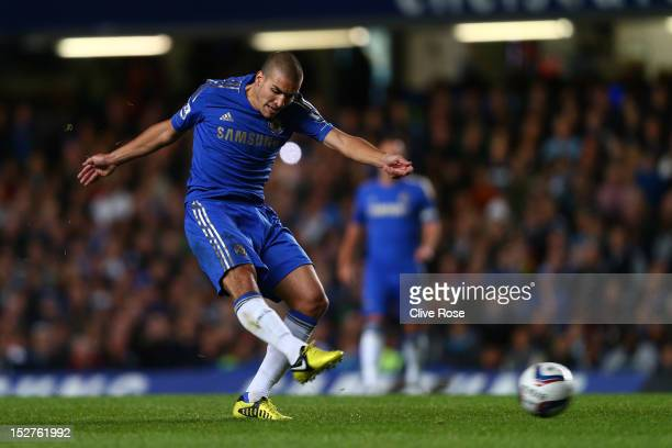 Chelsea's Oriol Romeu in action during the Capital One Cup third round match between Chelsea and Wolverhampton Wanderers at Stamford Bridge on...