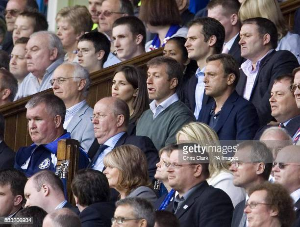 Chelsea's Owner Roman Abramovich watches his team play during the Friendly match at Ibrox Stadium Glasgow