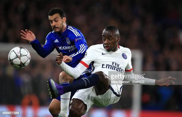 Chelsea's Pedro and Paris SaintGermain's Blaise Matuidi battle for the ball
