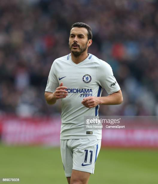 Chelsea's Pedro during the Premier League match between West Ham United and Chelsea at London Stadium on December 9 2017 in London England