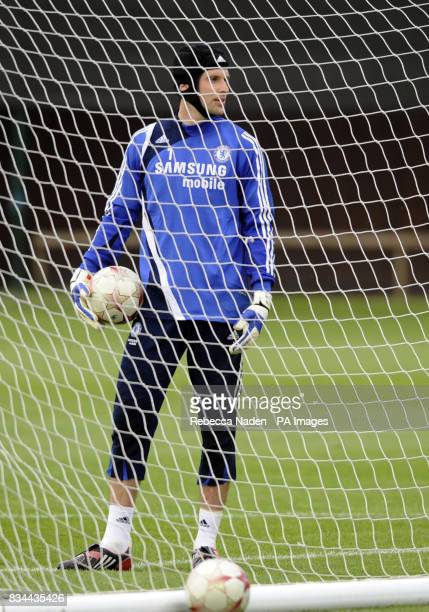 Chelsea's Petr Cech during the UEFA Champions League Media Day at Cobham London