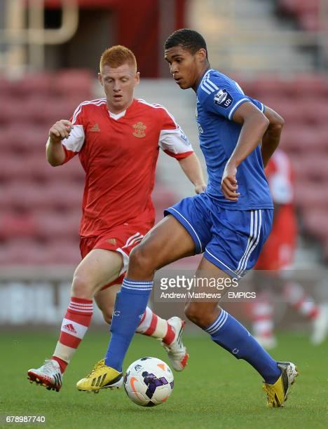 Chelsea's Ruben Loftus Cheek and Southampton's Harry Reed battle for the ball