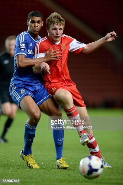 Chelsea's Ruben Loftus Cheek and Southampton's Matt Targett battle for the ball