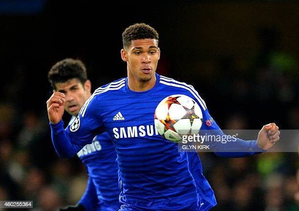 Chelsea's Ruben LoftusCheek controls the ball during the UEFA Champions League group G football match at Stamford Bridge in London on December 10...