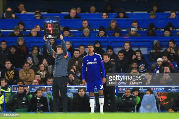 Chelsea's Ruben LoftusCheek prepares to come on as a substitute