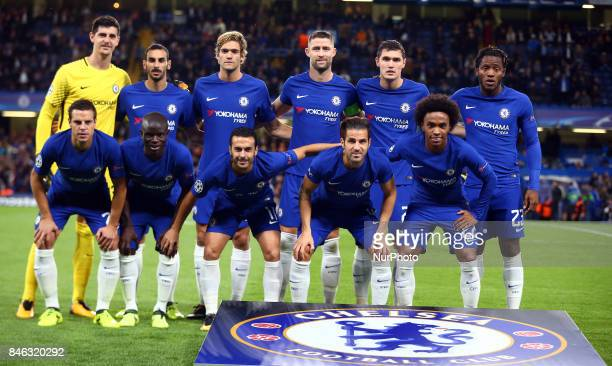 Chelsea's Team Shoot during UEFA Champions League Group C match between Chelsea and FK Qarabag at Stanford Bridge London 12 Sept 2017