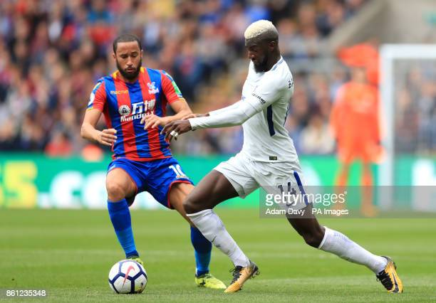 Chelsea's Tiemoue Bakayoko and Crystal Palace's Andros Townsend battle for the ball during the Premier League match at Selhurst Park London