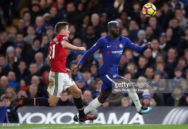 Chelsea's Tiemoue Bakayoko and Manchester United's Ander Herrera