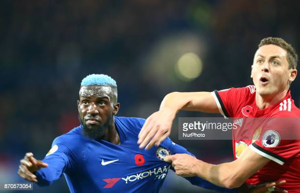 LR Chelsea's Tiemoue Bakayoko and Manchester United's Nemonjo Matic during the Premier League match between Chelsea and Manchester United at Stamford...